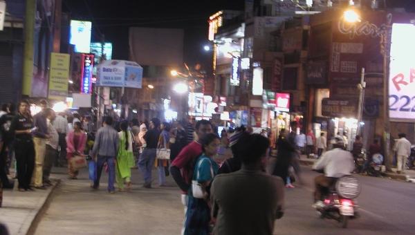 Ambiance nuit à Bengalore...