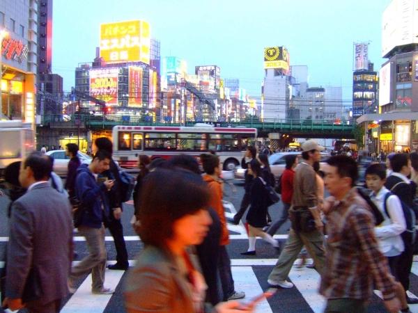 Une rue de Tokyo...